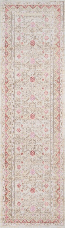 Isabella Machine Made Pink Area Rugs