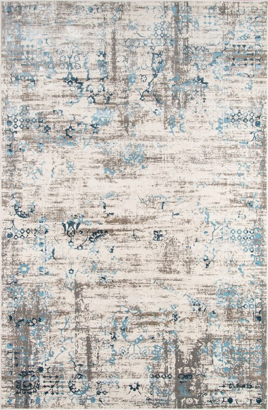 Juliet Collection Turkish Machine Made Blue Area Rugs