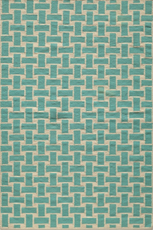 Laguna Collection Indian Hand Woven Aqua Area Rugs