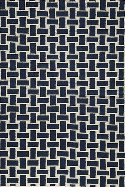 Laguna Collection Indian Hand Woven Navy Area Rugs