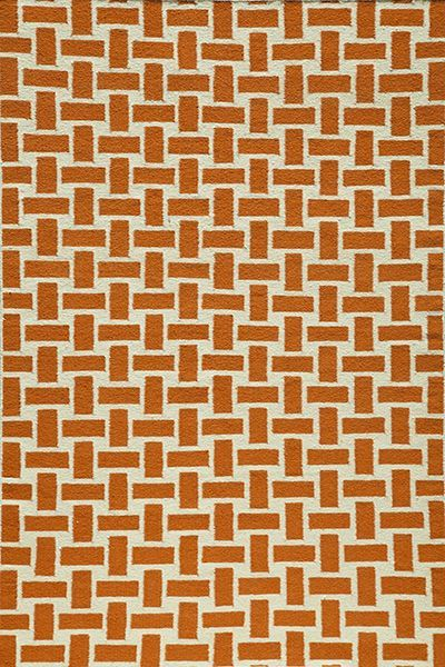 Laguna Collection Indian Hand Woven Orange Area Rugs