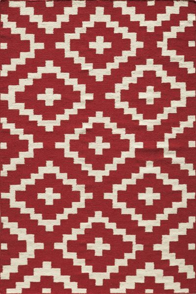 Laguna Collection Indian Hand Woven Red Area Rugs