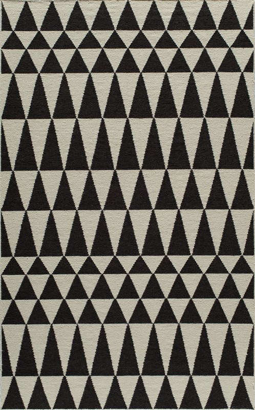Laguna Collection Indian Hand Woven Black Area Rugs