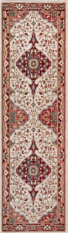 Lenox Machine Made Red Area Rugs