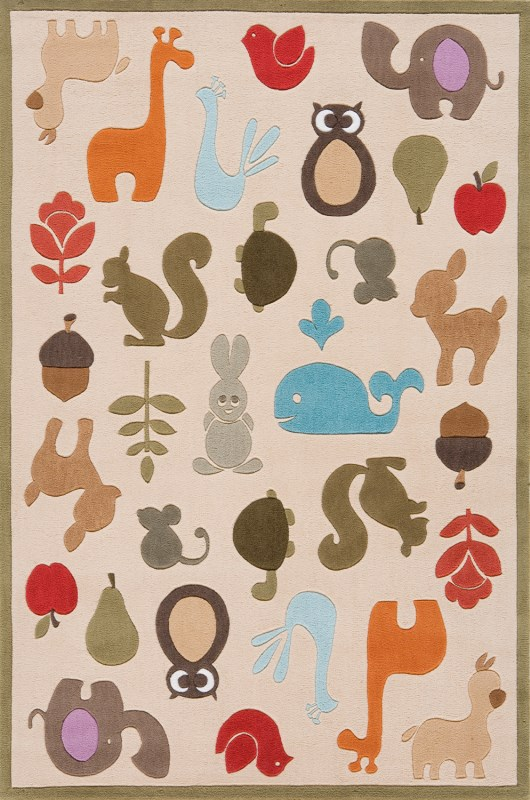 Lil Mo Whimsy Collection Chinese Hand Tufted Ivory Area Rugs