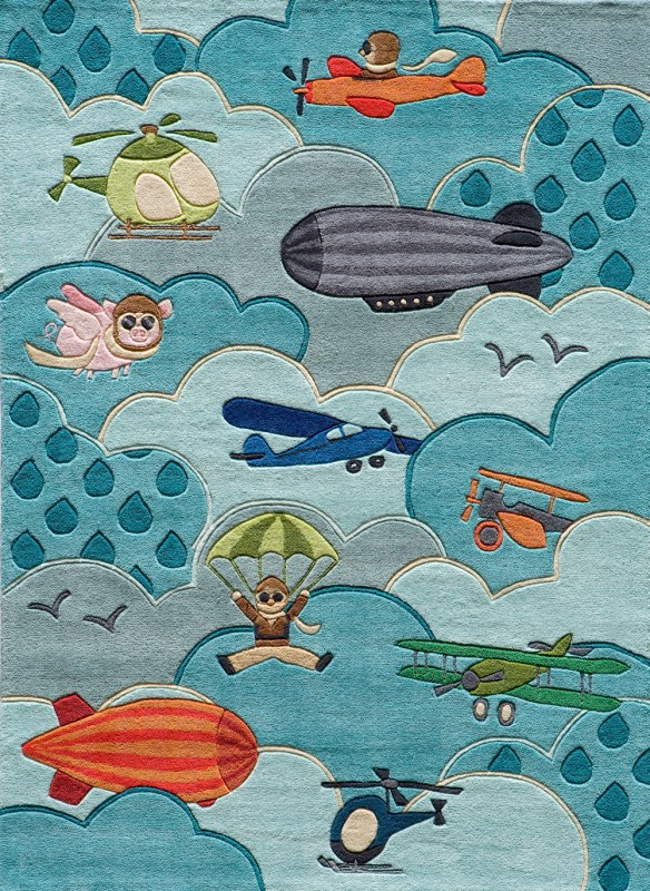Lil Mo Whimsy Collection Chinese Hand Tufted Sky Area Rugs