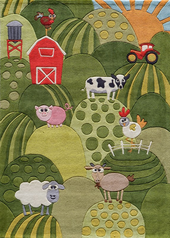 Lil Mo Whimsy Collection Chinese Hand Tufted Grass Area Rugs