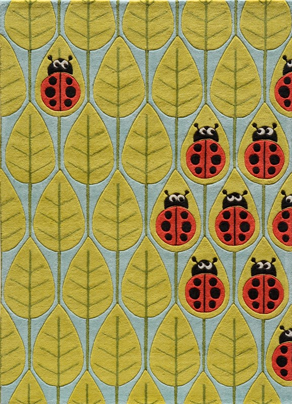 Lil Mo Whimsy Collection Chinese Hand Tufted Lady Bug Red Area Rugs