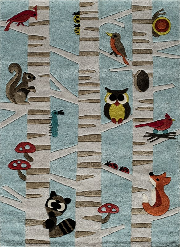Lil Mo Whimsy Collection Chinese Hand Tufted L.blue Area Rugs