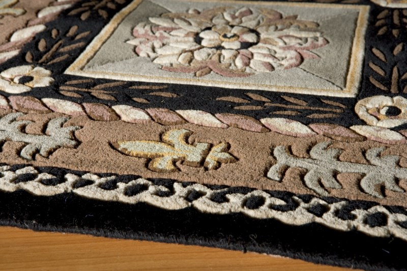 Maison Hand Tufted Black Area Rugs