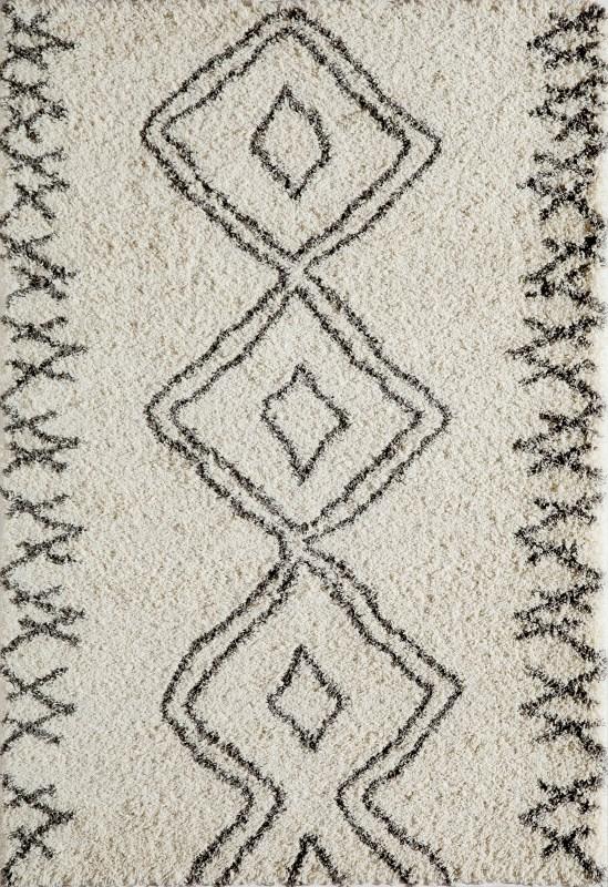 Maya Collection Turkish Machine Made Ivory Area Rugs