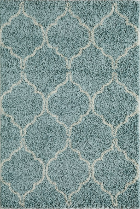 Maya Collection Turkish Machine Made Blue Area Rugs