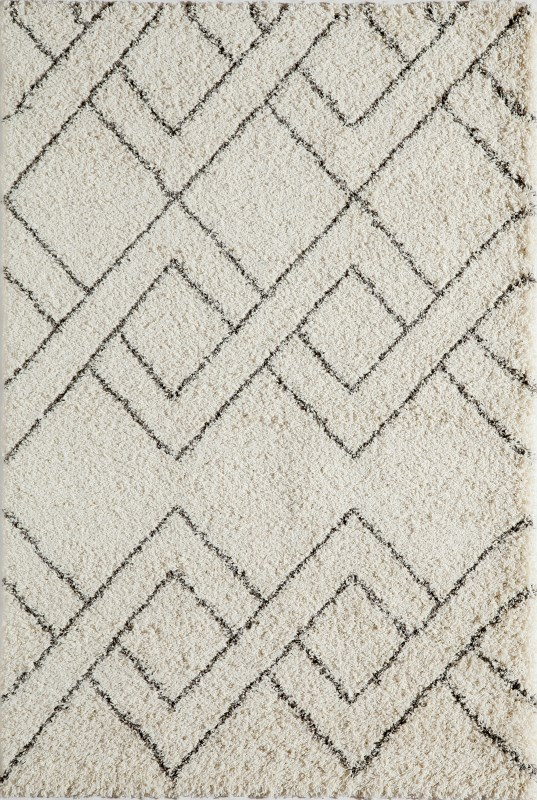 Maya Collection Turkish Machine Made Ivory Area Rugs