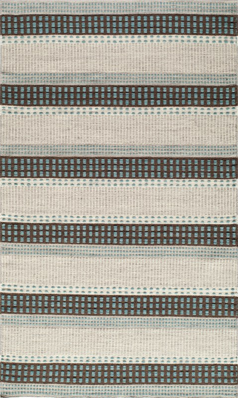 Mesa Collection Indian Hand Woven Blue Area Rugs