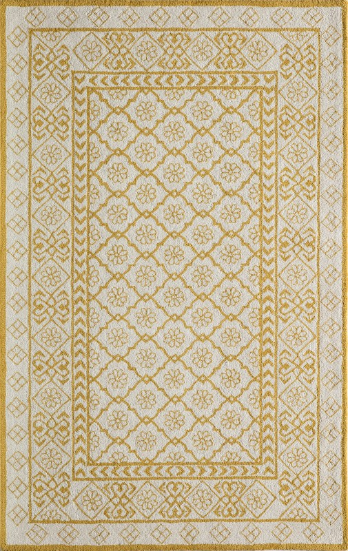Newport Collection Indian Hand Tufted Gold Area Rugs