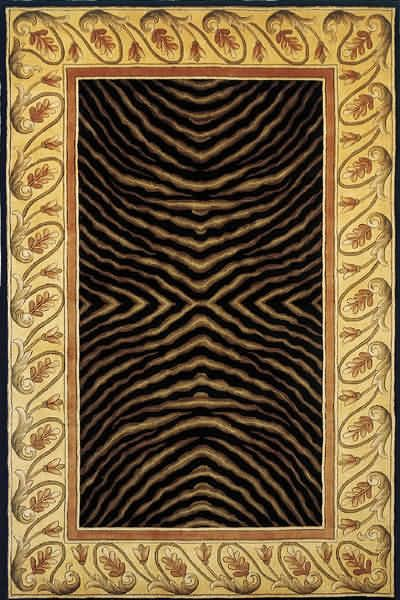New Wave Collection Chinese Hand Tufted Black Area Rugs