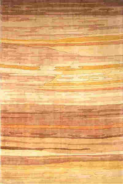 New Wave Collection Chinese Hand Tufted Sand Area Rugs