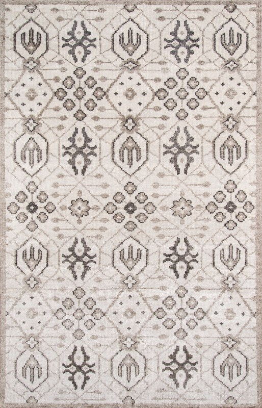Nova Collection Indian Hand Knotted Ivory Area Rugs