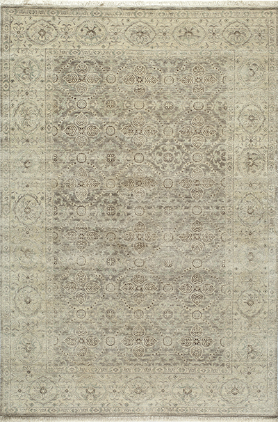 Palace Hand Knotted Taupe Area Rugs