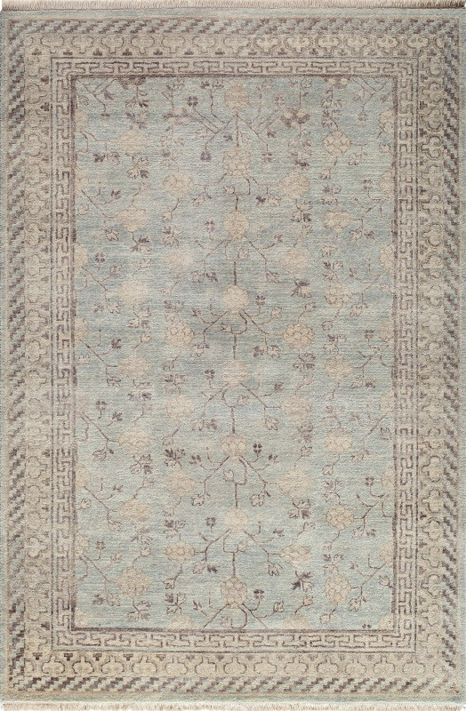 Palace Hand Knotted Light Blue Area Rugs