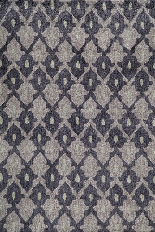 Rio Collection Chinese Hand Tufted Aubergine Area Rugs