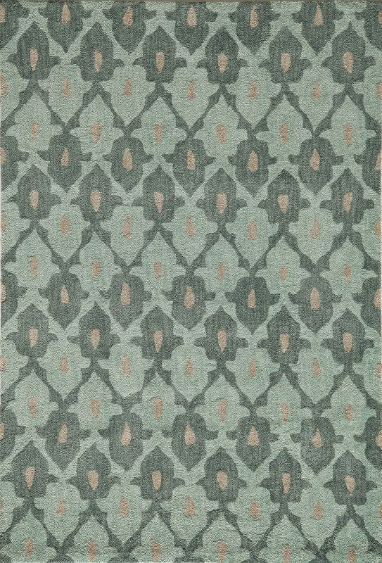 Rio Collection Chinese Hand Tufted Teal Area Rugs