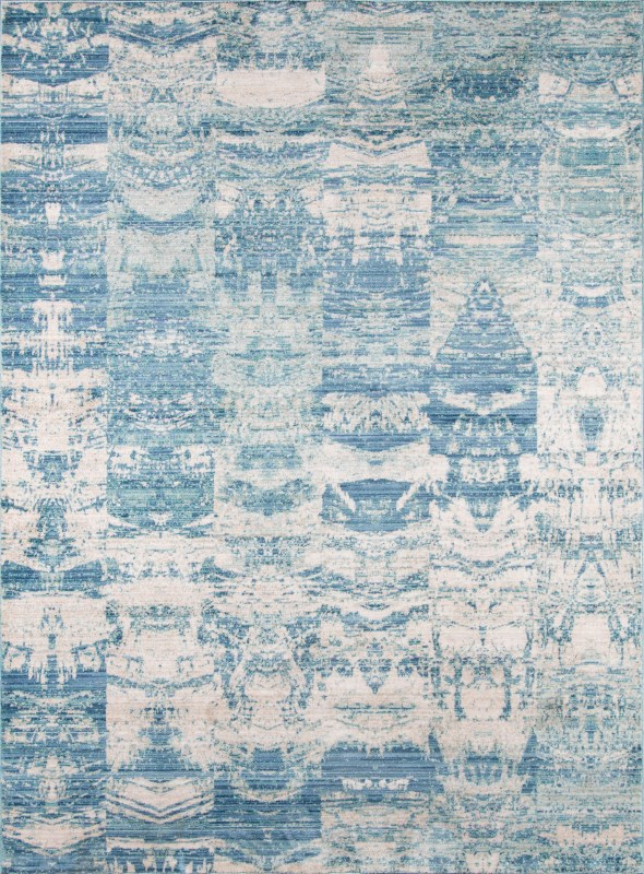 Rustic Romance Turkish Machine Made Blue Area Rugs