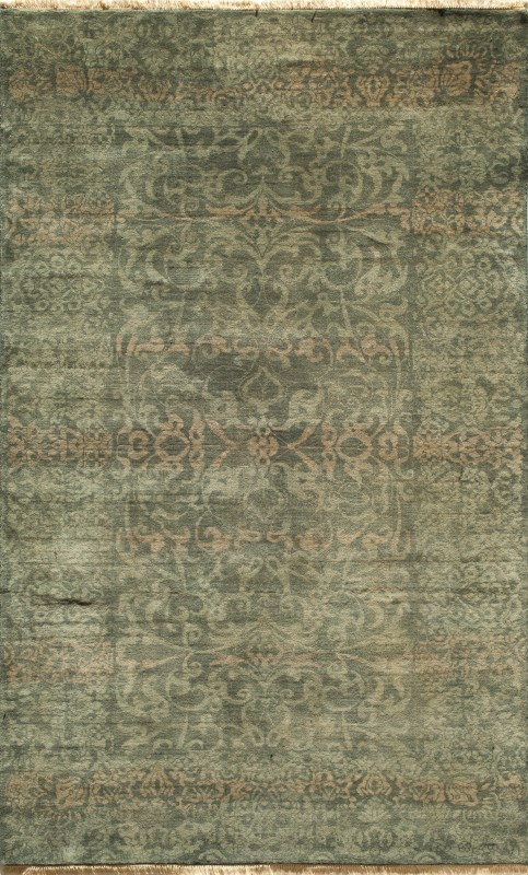 Shalimar Collection Indian Hand Knotted Blue Area Rugs