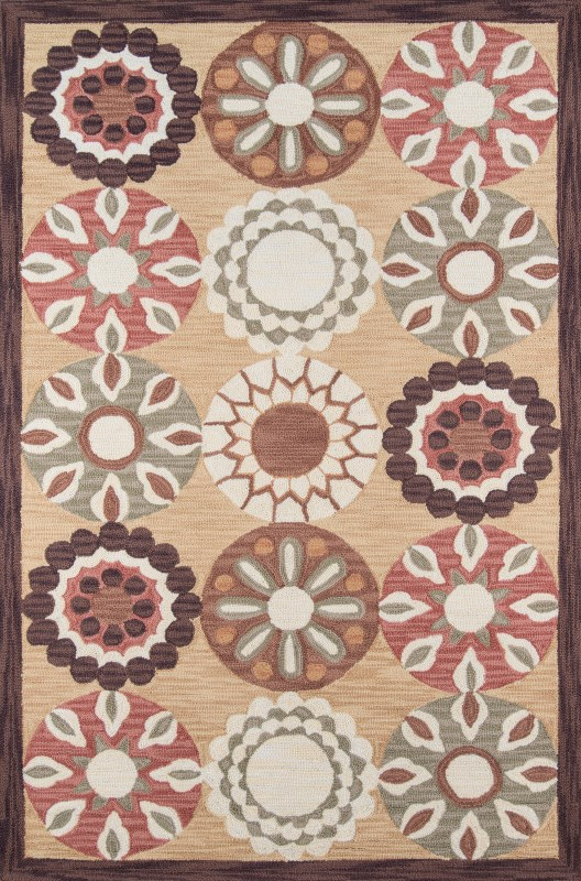 Summit Collection Chinese Hand Hook Gold Area Rugs