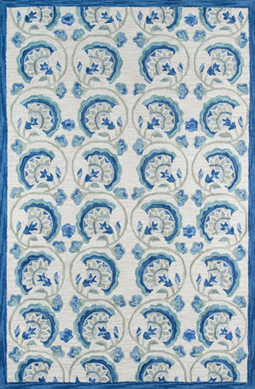 Summit Collection Chinese Hand Hook Blue Area Rugs