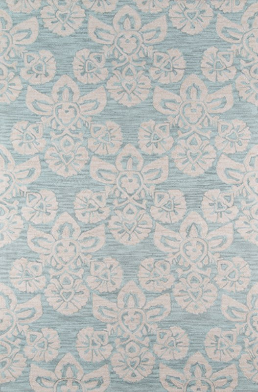 Summit Collection Chinese Hand Hook L.blue Area Rugs