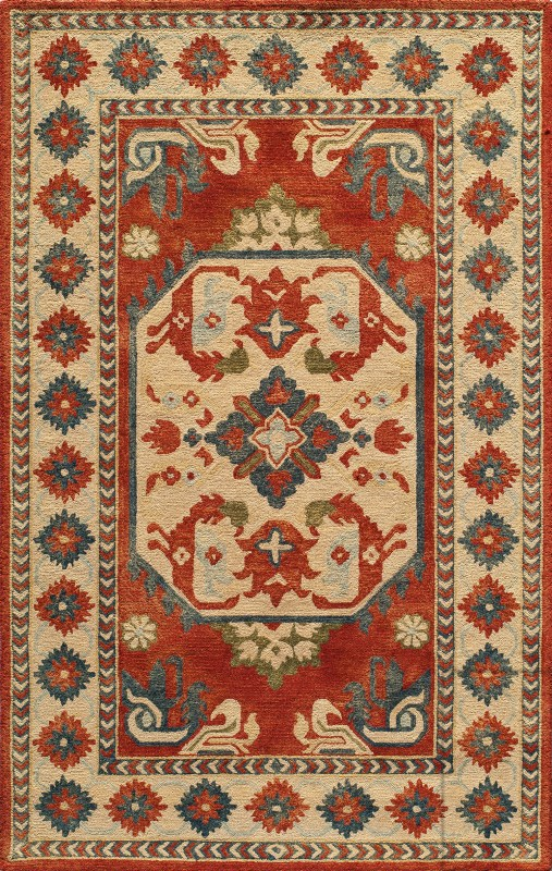 Tangier Collection Indian Hand Tufted Ivory Area Rugs