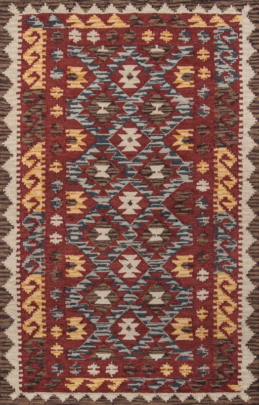 Tangier Collection Indian Hand Tufted Red Area Rugs