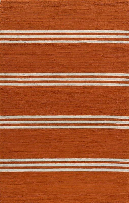 Veranda Collection Chinese Hand Hook Tangerine Area Rugs