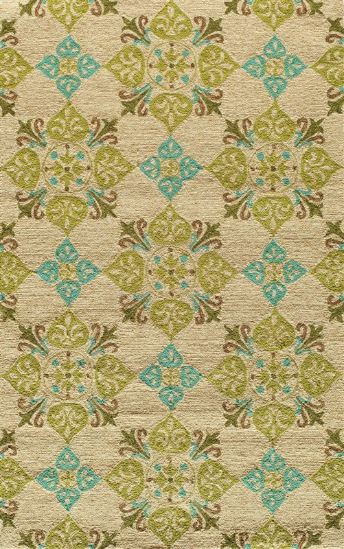 Veranda Collection Chinese Hand Hook Beige Area Rugs