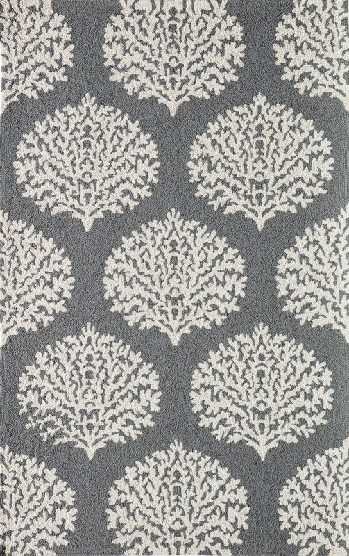 Veranda Collection Chinese Hand Hook Grey Area Rugs