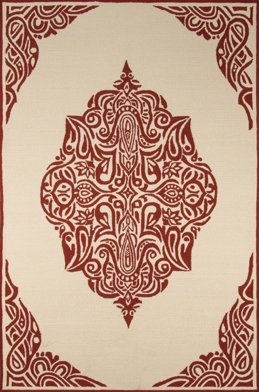 Veranda Collection Chinese Hand Hook Red Area Rugs