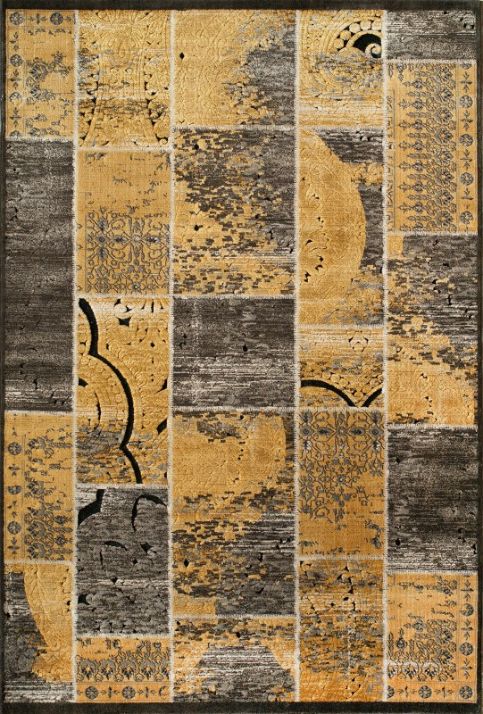 Vogue Collection Turkish Machine Made Gold Area Rugs