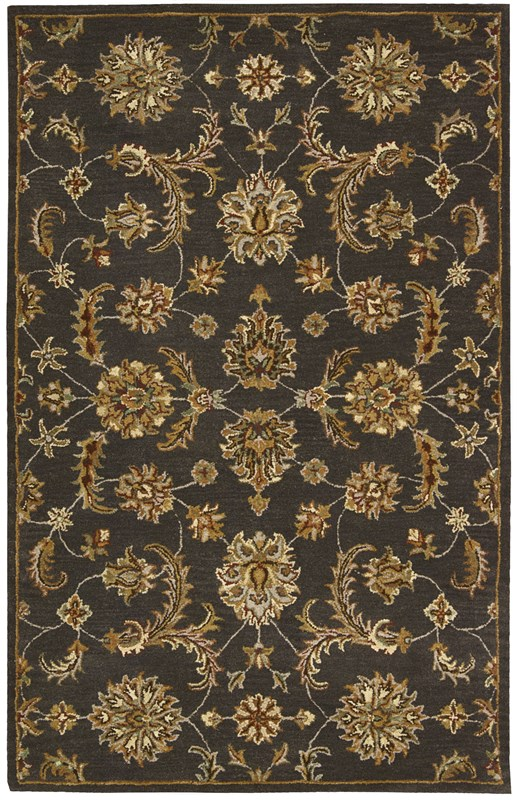 India House  Charcoal Area Rugs