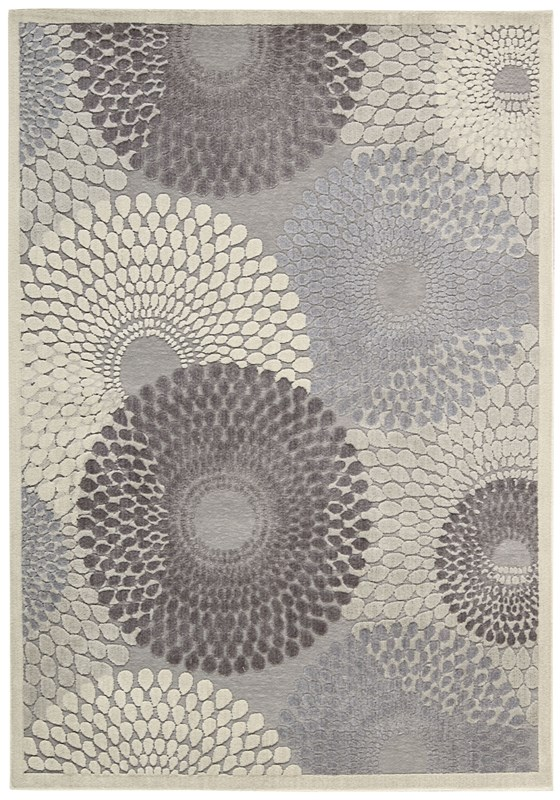 Graphic Illusions  Grey Area Rugs