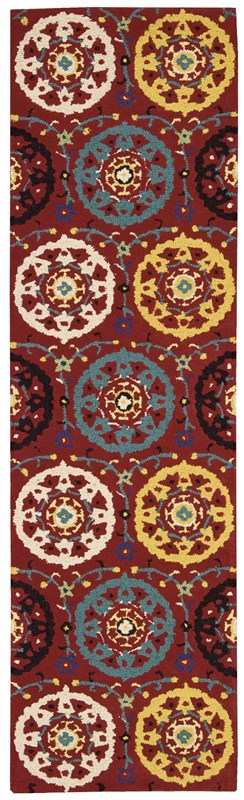 Suzani  Red Area Rugs