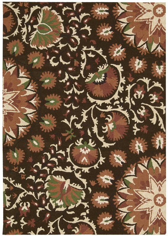 Suzani  Brown Area Rugs