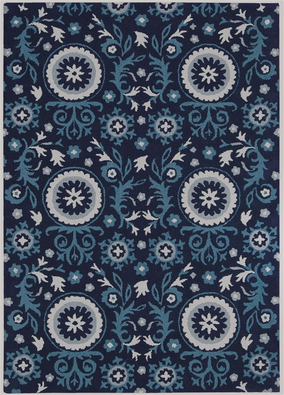 Suzani  Navy Area Rugs