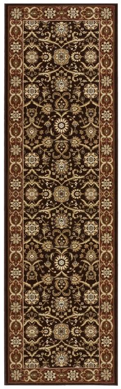 Persian Crown  Dark Brown Area Rugs