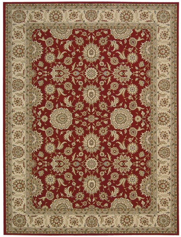 Persian Crown  Red Area Rugs