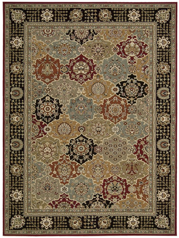 Persian Crown  Black Area Rugs