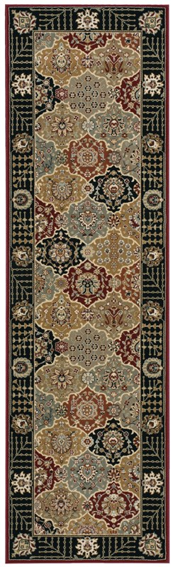Persian Crown  Black Area Rugs