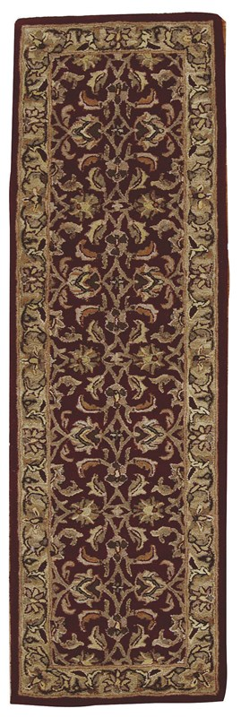 India House  Burgundy Area Rugs