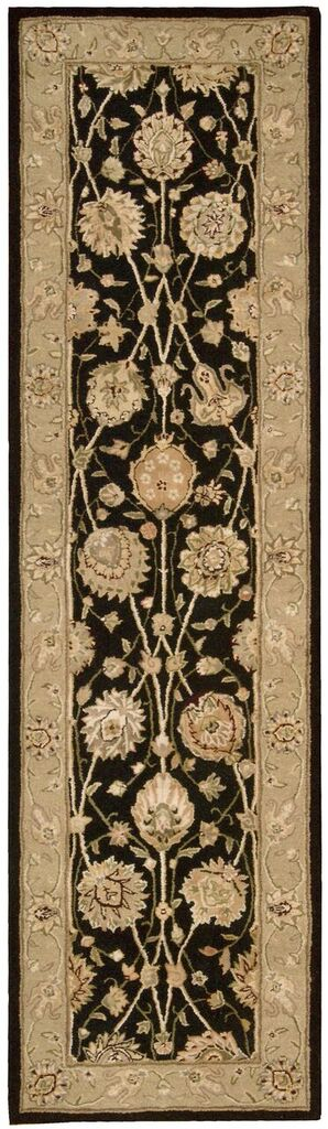 Nourison 3000 Hand Tufted Black Area Rugs