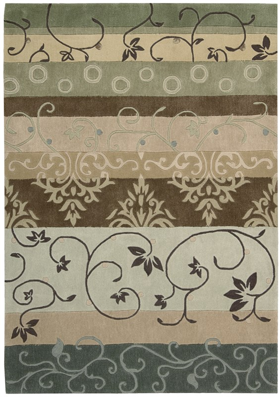 Contour  Green Area Rugs